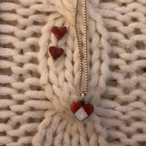 Jewelry - American Indian Heart set